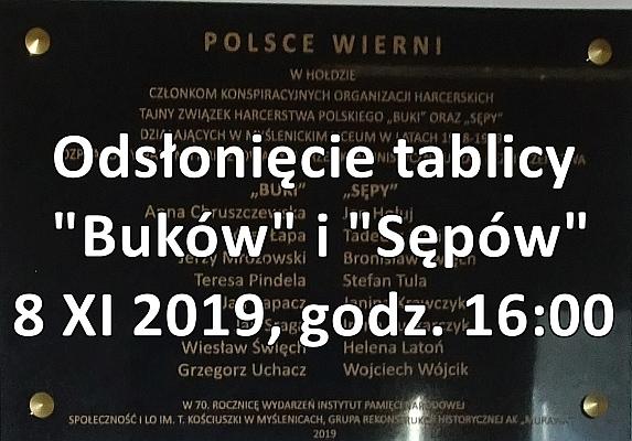 Odsłonięcie tablicy Buków i Sępów 8 XI 2019 godz. 16:00