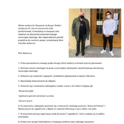Kacper Śmiłek - PROGRAM