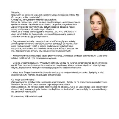 Wiktoria Makusek - PROGRAM