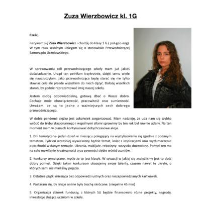 Zuza Wierzbowicz - PROGRAM